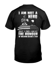 I AM NOT A HERO VETERAN Classic T-Shirt back