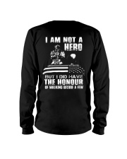 I AM NOT A HERO VETERAN Long Sleeve Tee thumbnail