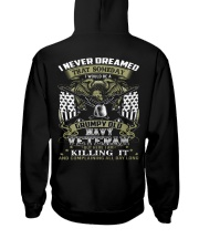 LlMlTED EDlTION - NAVY VETERAN Hooded Sweatshirt back