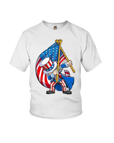 Dabbing Uncle Sam 4th of July Premium Fit Mens Tee