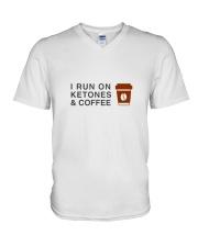 I run ON Ketones And Coffee  V-Neck T-Shirt thumbnail