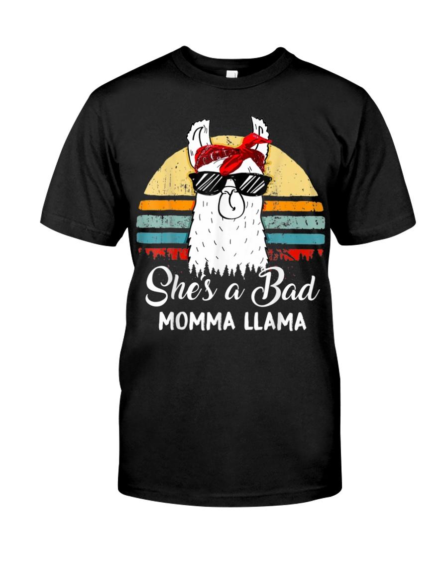 Shes a Bad Momma Llama Mama Retro Vintage Classic T-Shirt