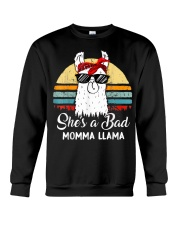 Shes a Bad Momma Llama Mama Retro Vintage Crewneck Sweatshirt thumbnail