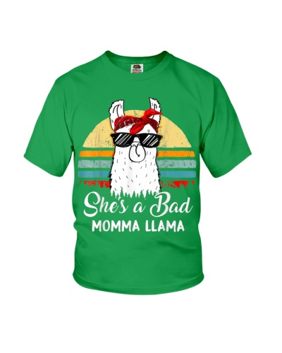 Shes a Bad Momma Llama Mama Retro Vintage