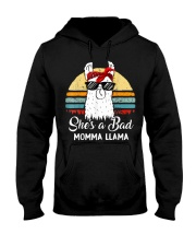 Shes a Bad Momma Llama Mama Retro Vintage Hooded Sweatshirt thumbnail