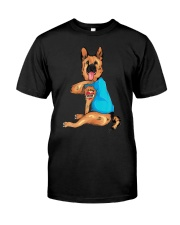 Mothers Day Tattoo I Love Mom German Shepherd Premium Fit Mens Tee thumbnail