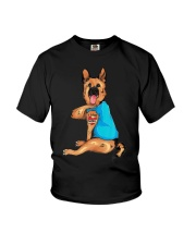 Mothers Day Tattoo I Love Mom German Shepherd Youth T-Shirt thumbnail