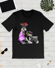 Funny Dog Tattoo Mom Life Schnauzer Mothers Day Classic T-Shirt lifestyle-mens-crewneck-front-17