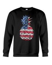 Patriotic Pineapple 4th of July America USA Crewneck Sweatshirt thumbnail