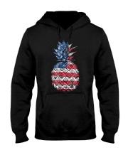 Patriotic Pineapple 4th of July America USA Hooded Sweatshirt thumbnail