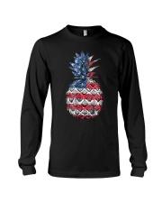 Patriotic Pineapple 4th of July America USA Long Sleeve Tee thumbnail
