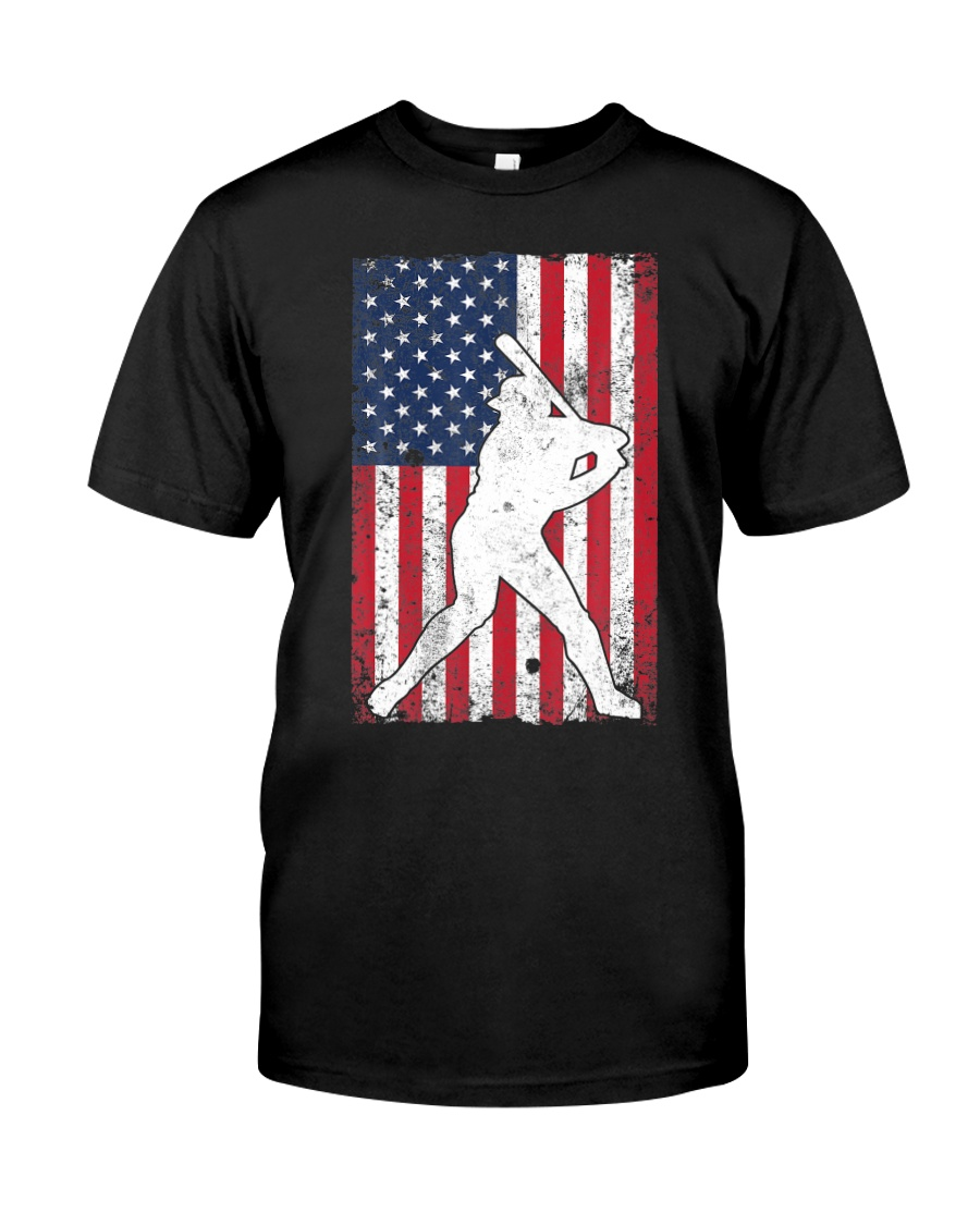 USA American Flag Baseball 4th of July Patriotic Classic T-Shirt