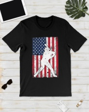 USA American Flag Baseball 4th of July Patriotic Classic T-Shirt lifestyle-mens-crewneck-front-17