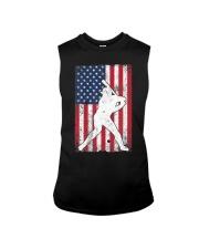 USA American Flag Baseball 4th of July Patriotic Sleeveless Tee thumbnail