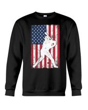 USA American Flag Baseball 4th of July Patriotic Crewneck Sweatshirt thumbnail