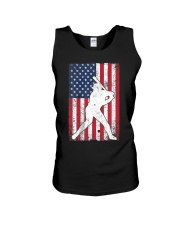 USA American Flag Baseball 4th of July Patriotic Unisex Tank tile