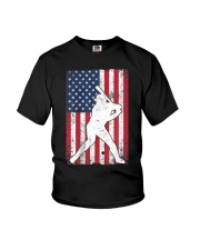 USA American Flag Baseball 4th of July Patriotic Youth T-Shirt til