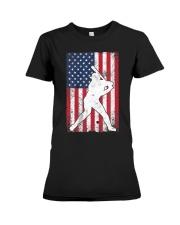 USA American Flag Baseball 4th of July Patriotic Premium Fit Ladies Tee thumbnail