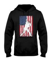 USA American Flag Baseball 4th of July Patriotic Hooded Sweatshirt thumbnail