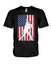 USA American Flag Baseball 4th of July Patriotic V-Neck T-Shirt thumbnail