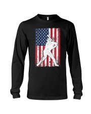 USA American Flag Baseball 4th of July Patriotic Long Sleeve Tee thumbnail