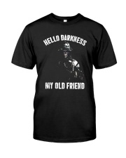 Veteran Hello darkness my old friend veteran Classic T-Shirt front
