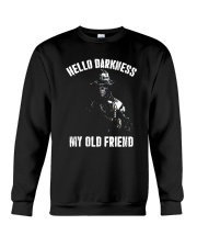 Veteran Hello darkness my old friend veteran Crewneck Sweatshirt thumbnail