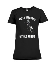 Veteran Hello darkness my old friend veteran Premium Fit Ladies Tee thumbnail