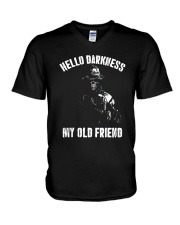 Veteran Hello darkness my old friend veteran V-Neck T-Shirt thumbnail