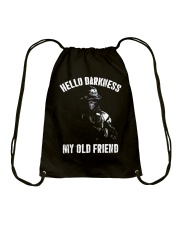 Veteran Hello darkness my old friend veteran Drawstring Bag thumbnail