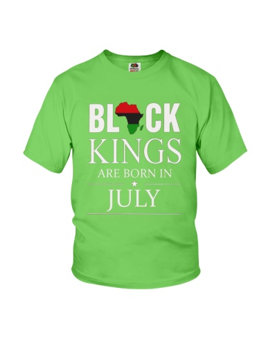 Black kings are born in July Africa Flag