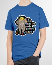 In a world where you can be anything be kind  Youth T-Shirt garment-youth-tshirt-front-lifestyle-01