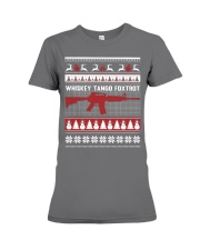 Whiskey Tango Foxtrot Christmas Premium Fit Ladies Tee front