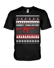 Whiskey Tango Foxtrot Christmas V-Neck T-Shirt thumbnail