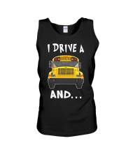 I DRIVE A SCHOOL BUS  Unisex Tank thumbnail