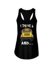 I DRIVE A SCHOOL BUS  Ladies Flowy Tank thumbnail
