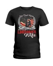 Lineman's Wife Ladies T-Shirt front