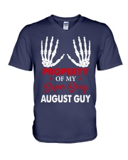 AUGUST GUY  V-Neck T-Shirt tile