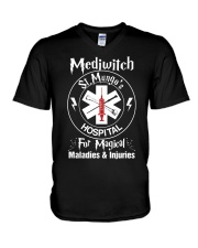 Magical Staff St Mungo's V-Neck T-Shirt thumbnail