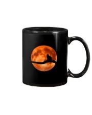 Cat in love with moon at night Mug thumbnail