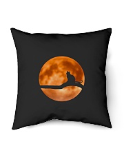 """Cat in love with moon at night Indoor Pillow - 16"""" x 16"""" thumbnail"""