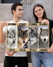 Wolf be strong 24x16 Poster poster-landscape-24x16-lifestyle-21
