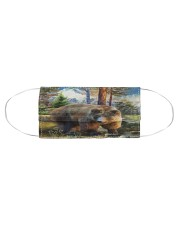 Bear in Forest Cloth face mask aos-face-mask-coverlet-lifestyle-front-01