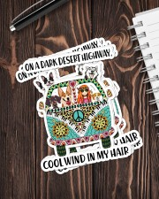 Dog on a dark desert highway cool wind in my hair Sticker - 6 pack (Vertical) aos-sticker-6-pack-vertical-lifestyle-front-05