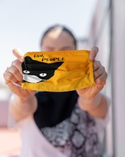 Black Cat EW PEOPLE Cloth face mask aos-face-mask-lifestyle-07