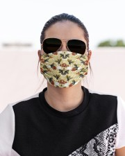 BEE HONEY FLOWER FACE Cloth face mask aos-face-mask-lifestyle-02