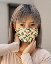 BEE HONEY FLOWER FACE Cloth face mask aos-face-mask-lifestyle-18