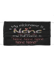 My nickname is Nene  Cloth face mask front