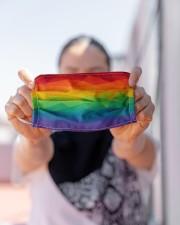 LGBT Face Mask - Celebrate LGBT Pride - PawAnimal Cloth face mask aos-face-mask-lifestyle-07