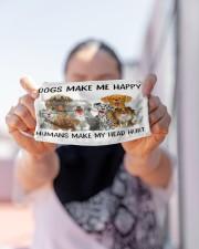Dog make me happy Cloth face mask aos-face-mask-lifestyle-07